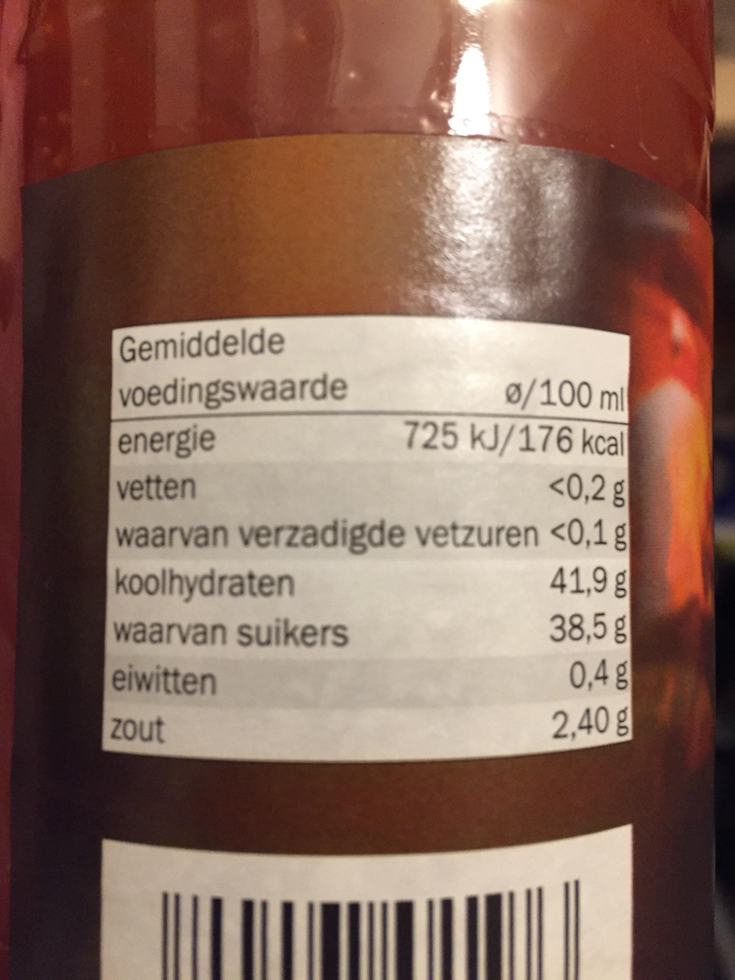 Sweet Chili Sauce - Voedingswaarden - nl