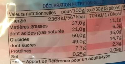 Choco Nours - Voedingswaarden