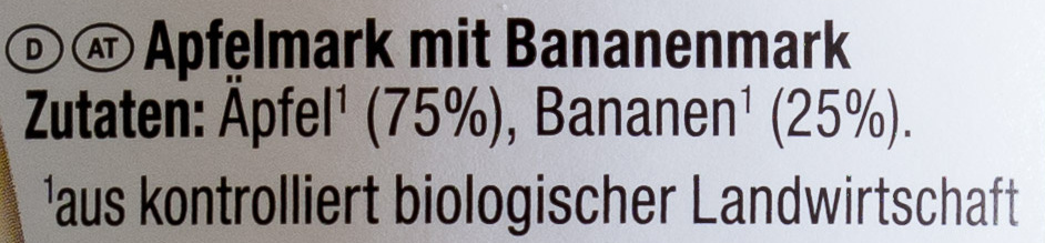 Bio-Apfel-Bananenmark - Inhaltsstoffe
