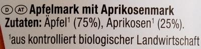 Bio-Apfel-Aprikosenmark - Ingredients
