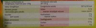 Compotes Pomme-Fraise - Voedingswaarden - fr