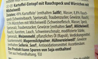 Kartoffel-Eintopf - Ingredients