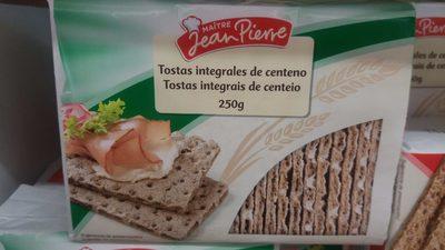 Tostas integrales de centeno - Produit - fr