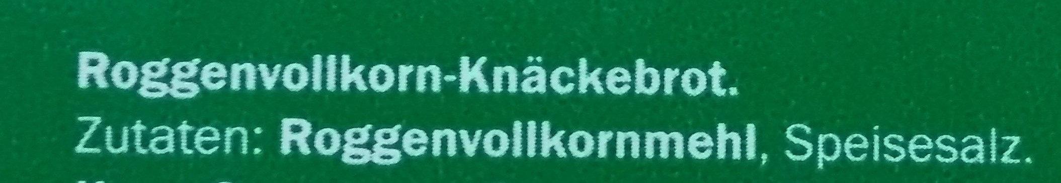 Roggen Vollkorn-Knäckebrot Grafschafter - Ingredientes