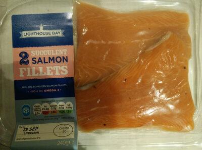 2 succulent salmon fillets - Product