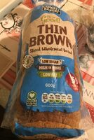 Thine Brown sliced wholemeal bread - Product - en