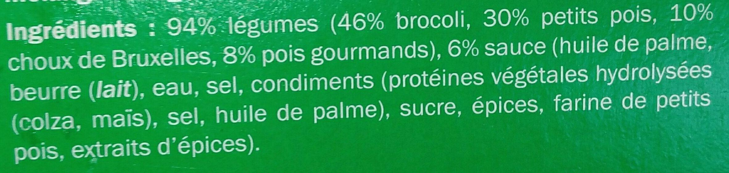Mélange de legumes vapeur - Ingrédients - fr