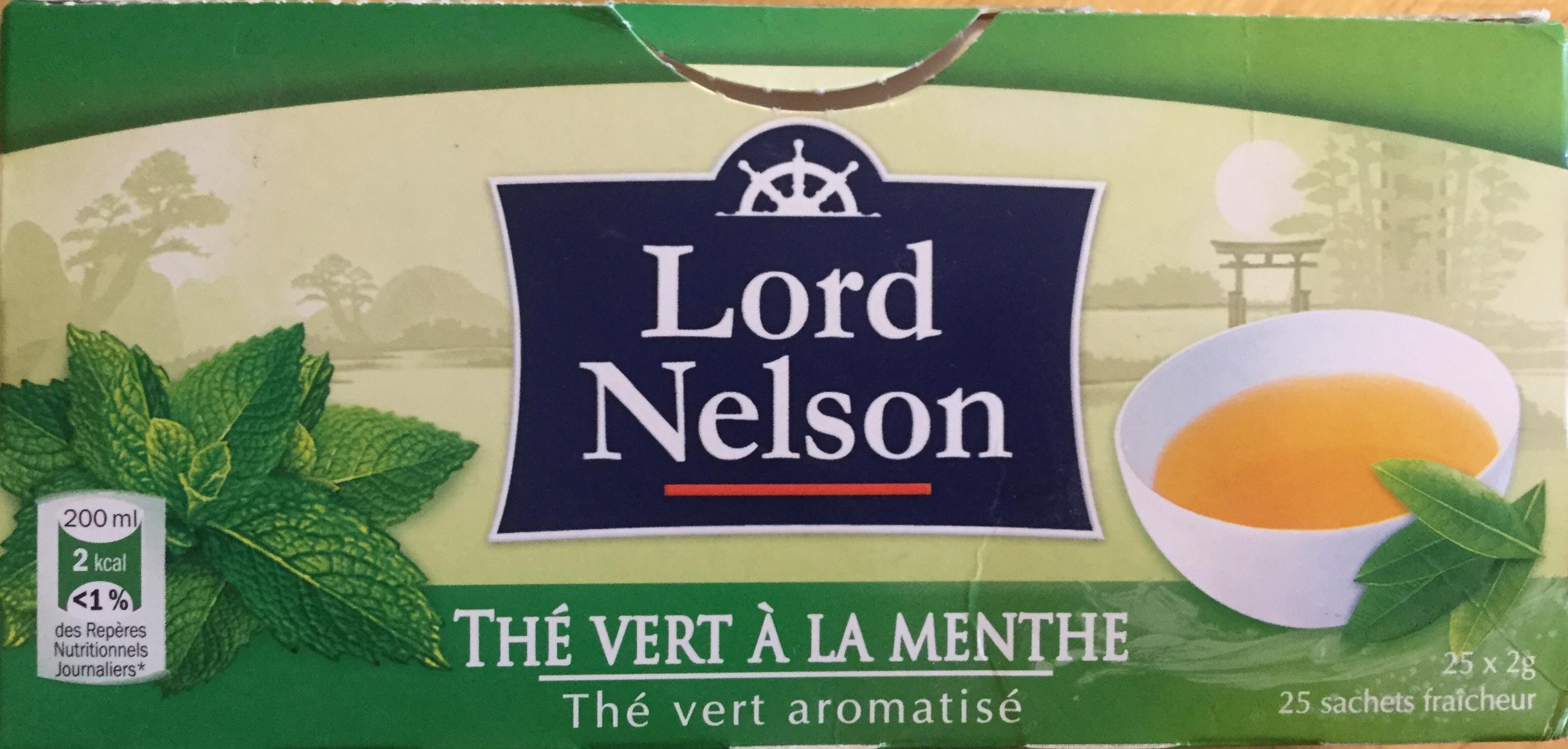 Thé Vert à La Menthe Lord Nelson 50 G 25 Sachets De 2g
