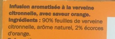 Verveine orange - Ingrediënten - fr