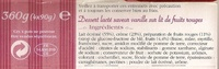Panna cotta frutas del Bosque - Ingrediënten - fr