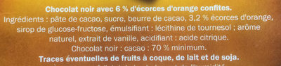 Noir dégustation à l'Orange équateur - Ingredients - fr