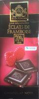 Chocolat dégustation à la framboise cacao Equateur 70% - Producte - fr