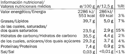 Chocolat dégustation à la framboise cacao Equateur 70% - Nutrition facts