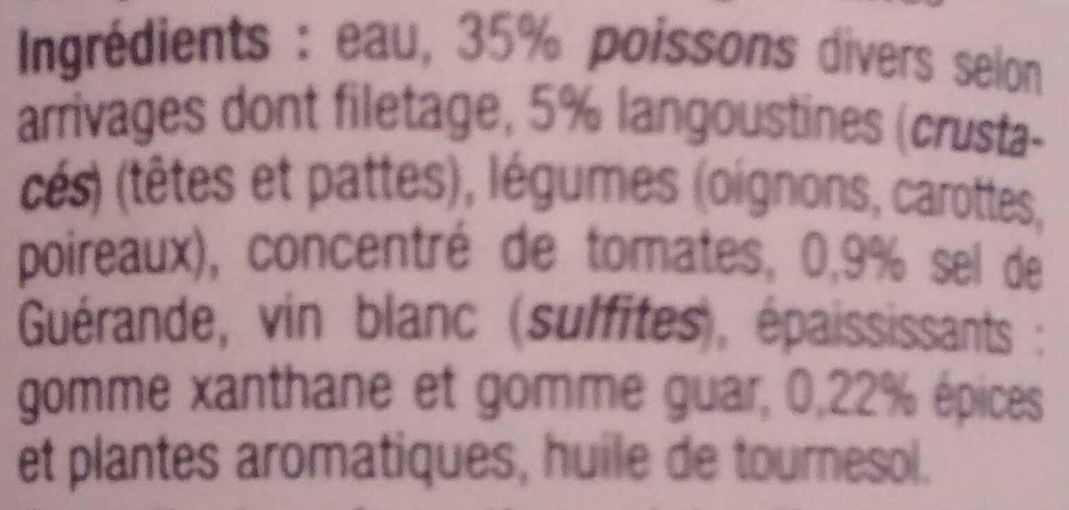 Soupe de poissons et langoustines - Ingredients