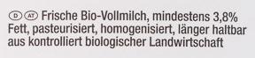 Frische Bio-Vollmilch - Ingredients