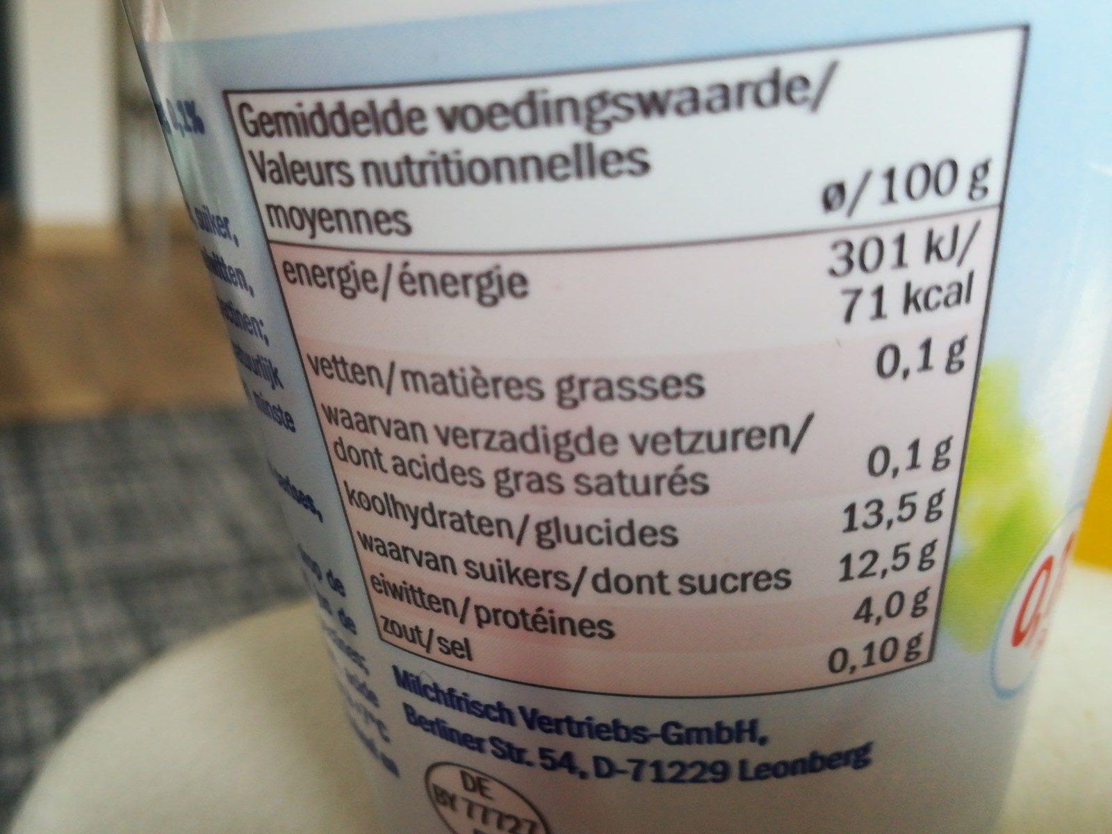 0% linea frutas cereza - Ingredienti - fr