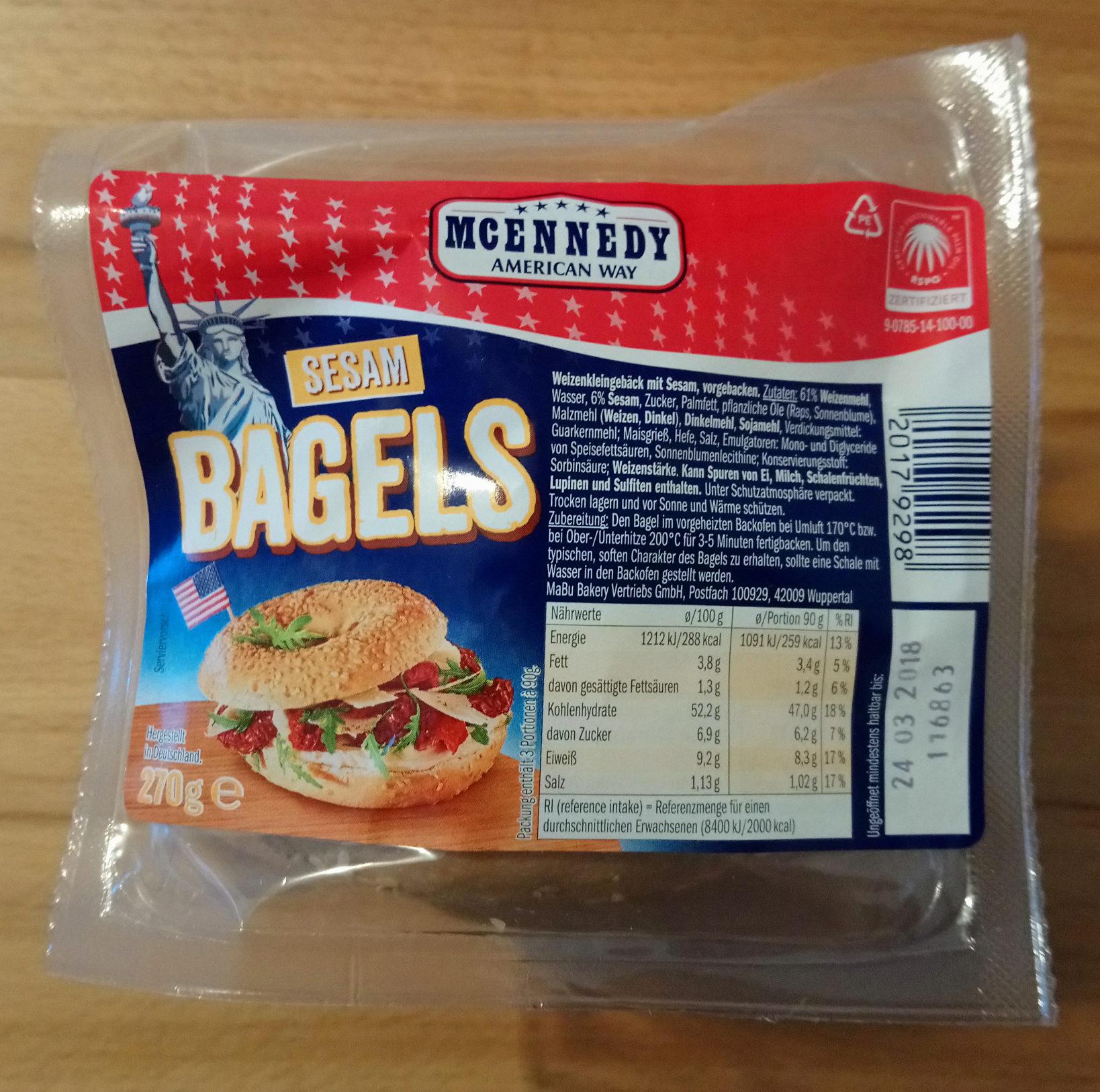 Bagels Sesam - Produkt