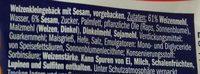 Bagels Sesam - Inhaltsstoffe