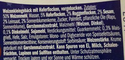5-Korn Bagels - Inhaltsstoffe