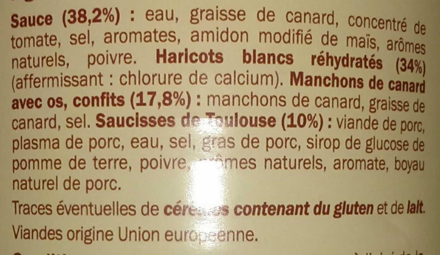 Cassoulet au Confit de Canard - Ingrediënten - fr