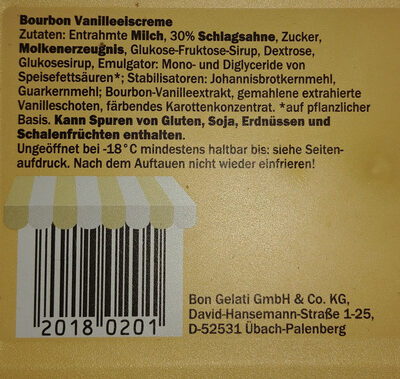 Premium Bourbon Vanille - Ingrédients - de