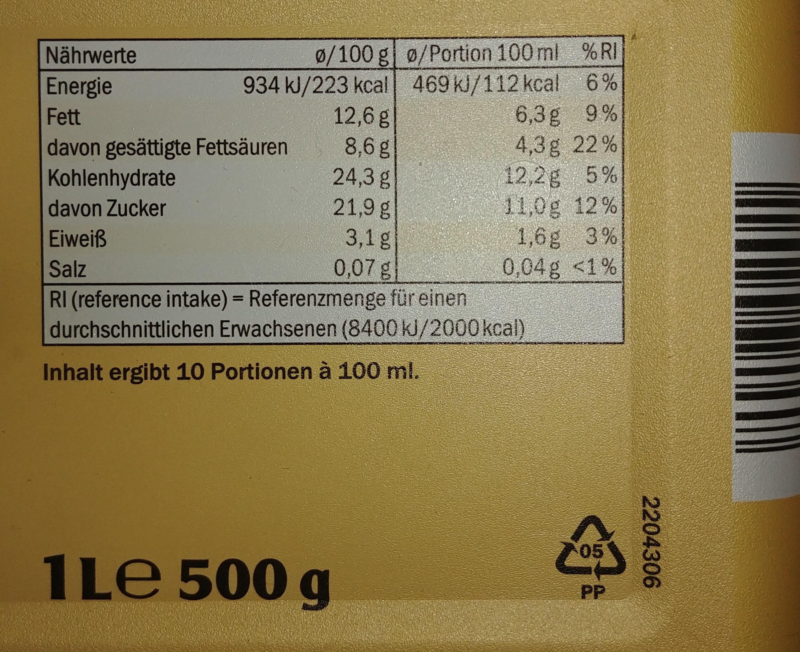 Premium Bourbon Vanille - Informations nutritionnelles - de