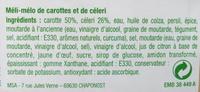 Carotte râpé et céleri - Ingrédients - fr