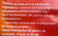 Croustillants Cacahuète - Ingrédients