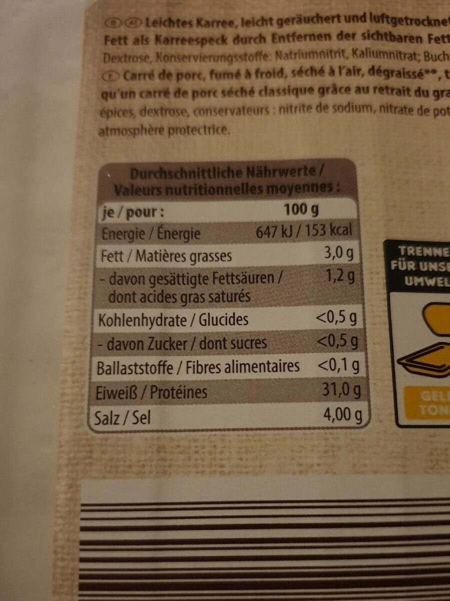 Sticks & Bretzels - Nutrition facts - fr