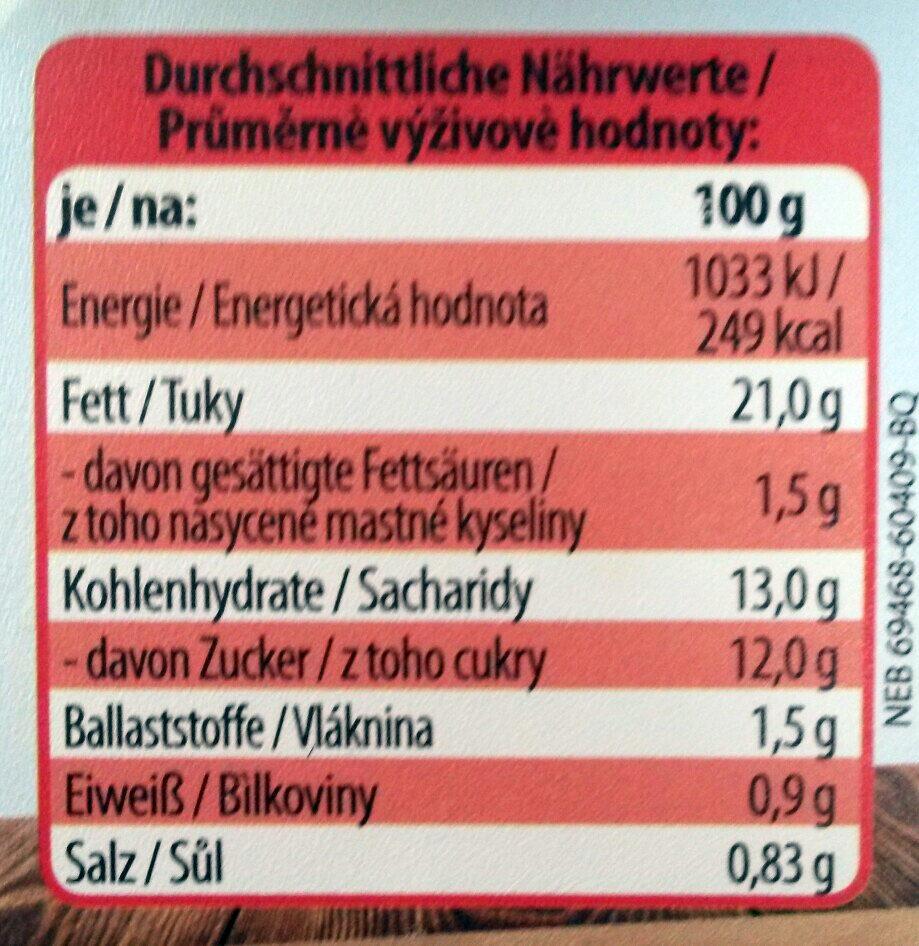 Weißkrautsalat American Style - Informations nutritionnelles - de