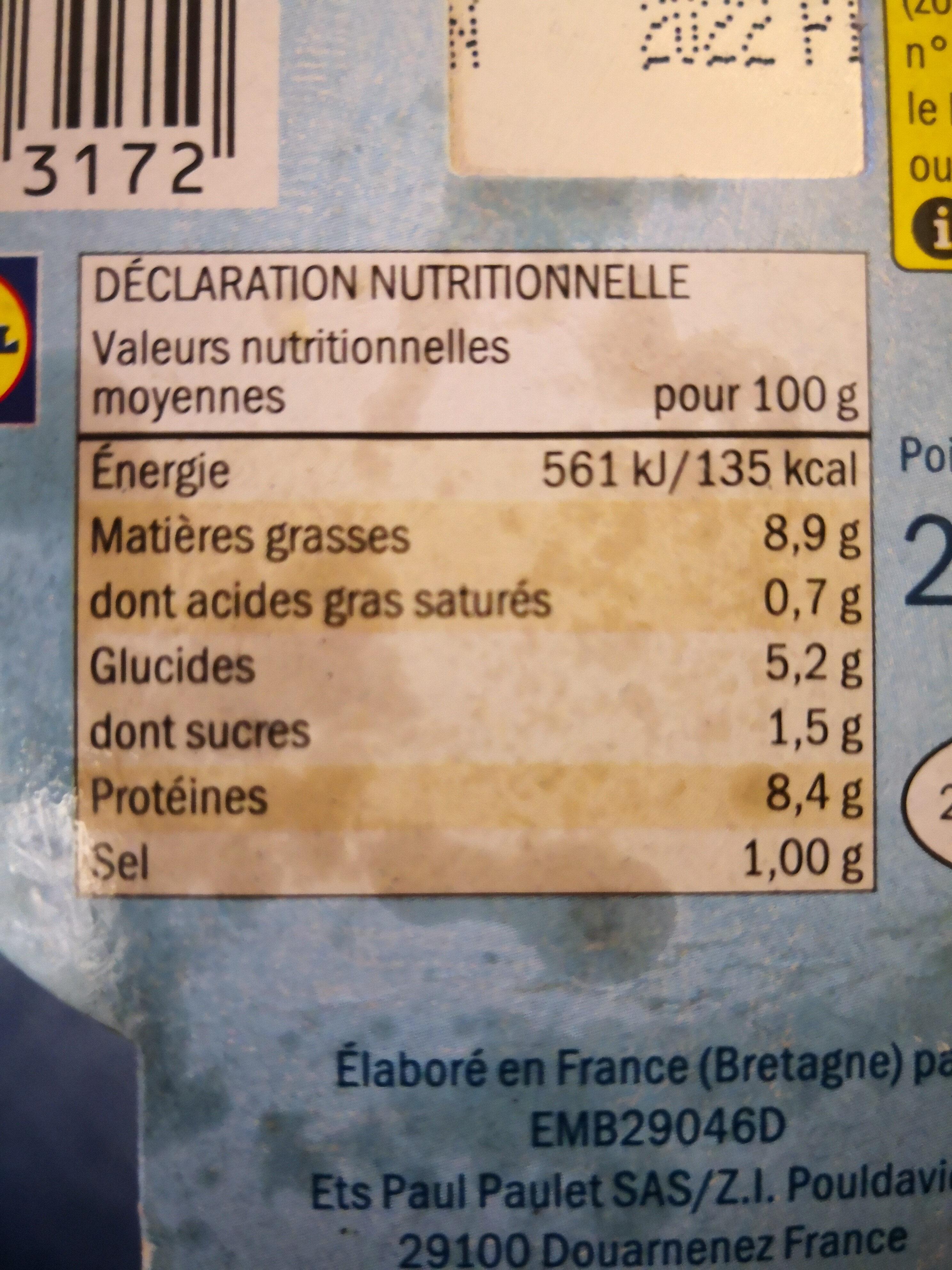 Salade piémontaise - Voedigswaarden