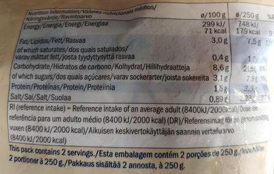 Freshona ratatouille cuisinée - Nutrition facts - en