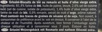 Grissini Rosmarino - Ingrédients - fr