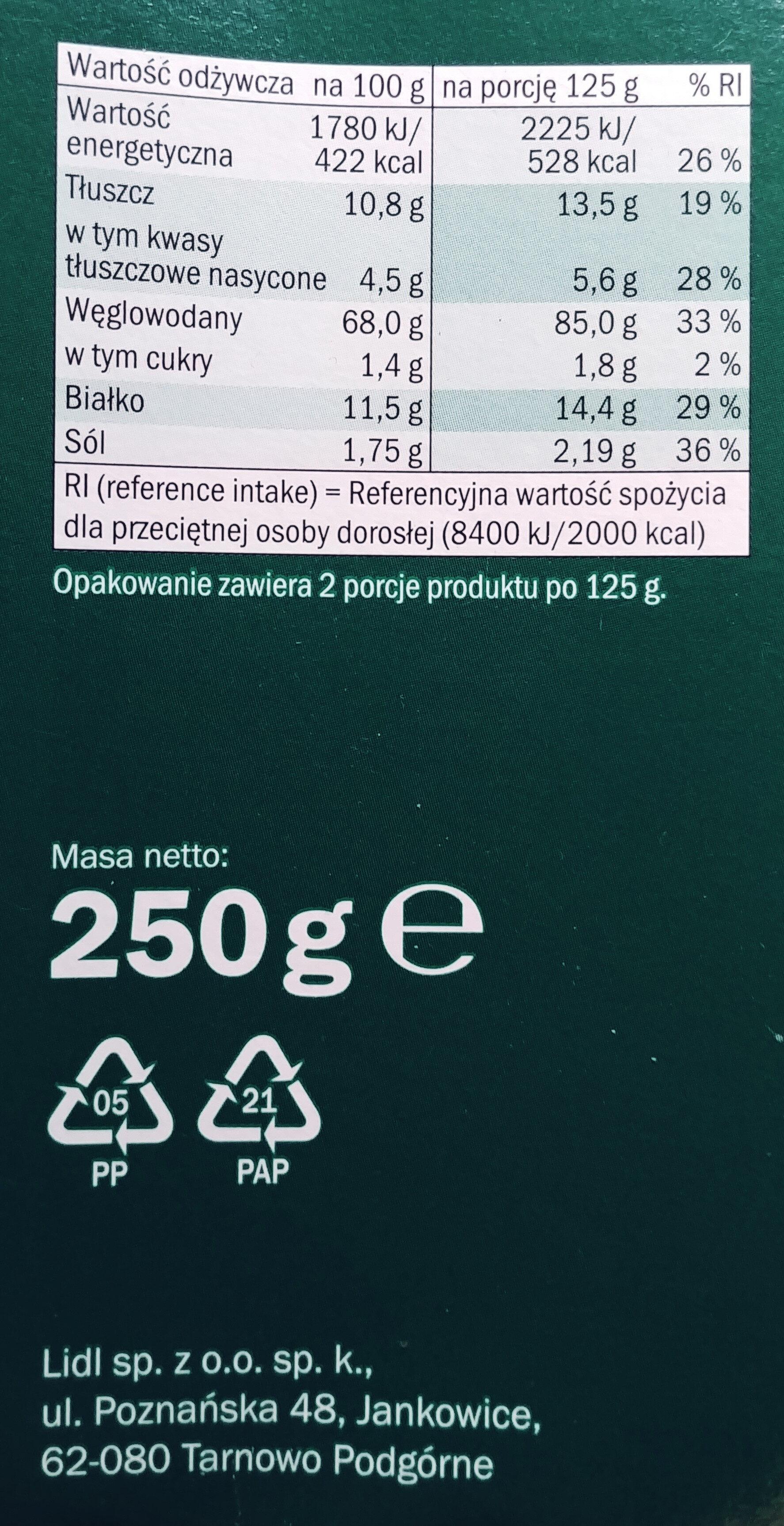 Grissini Rosmarino - Wartości odżywcze - pl