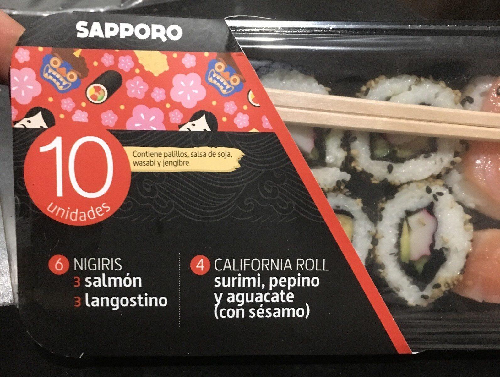 6 nigiris, 6 california roll - Product - es