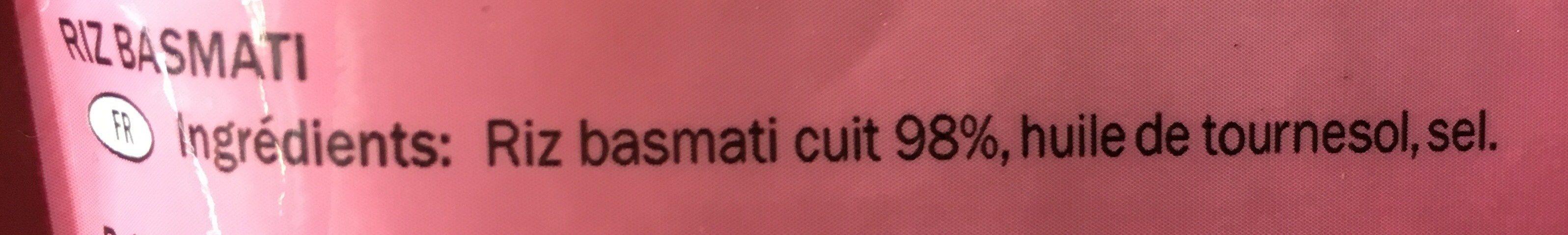 Arroz para microondas Basmati - Ingrédients