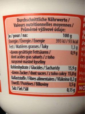 Fettarmer Fruchtjoghurt Erdbeer, 1,8% Fett - Voedingswaarden - fr