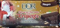 Turrón de Chocolate Crujiente Negro - Producto