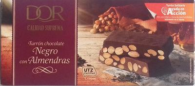 Turrón Chocolate Negro con Almendras - Producto