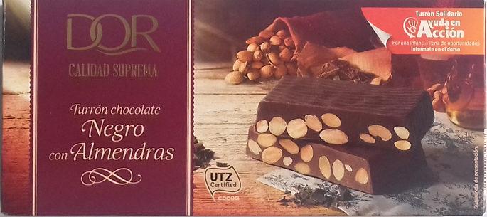 Turrón chocolate negro con almendras - Producto - es