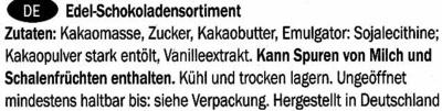 Edel-Schokoladensortiment - Ingredients