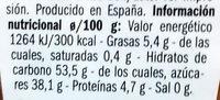 Albaricoque con almendra - Información nutricional - es