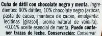 Dátil con Chocolate Negro y Menta - Ingredientes
