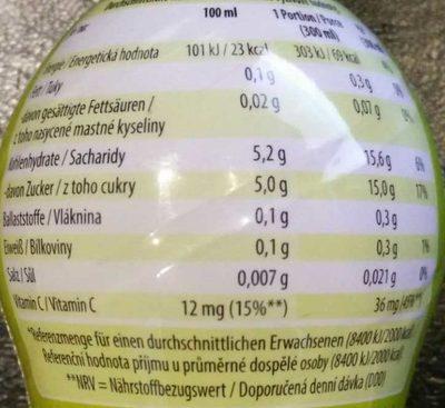 Frucht-Bande Fünf Apfel-Kirsch - Nährwertangaben
