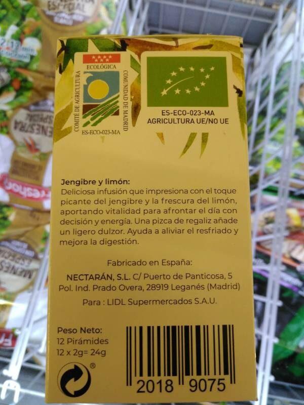 Jengibre y limón - Información nutricional - es