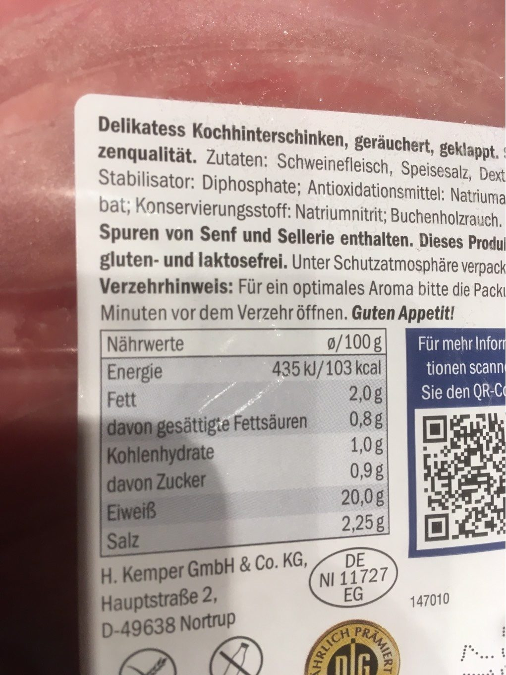Smoked Ham - Nutrition facts
