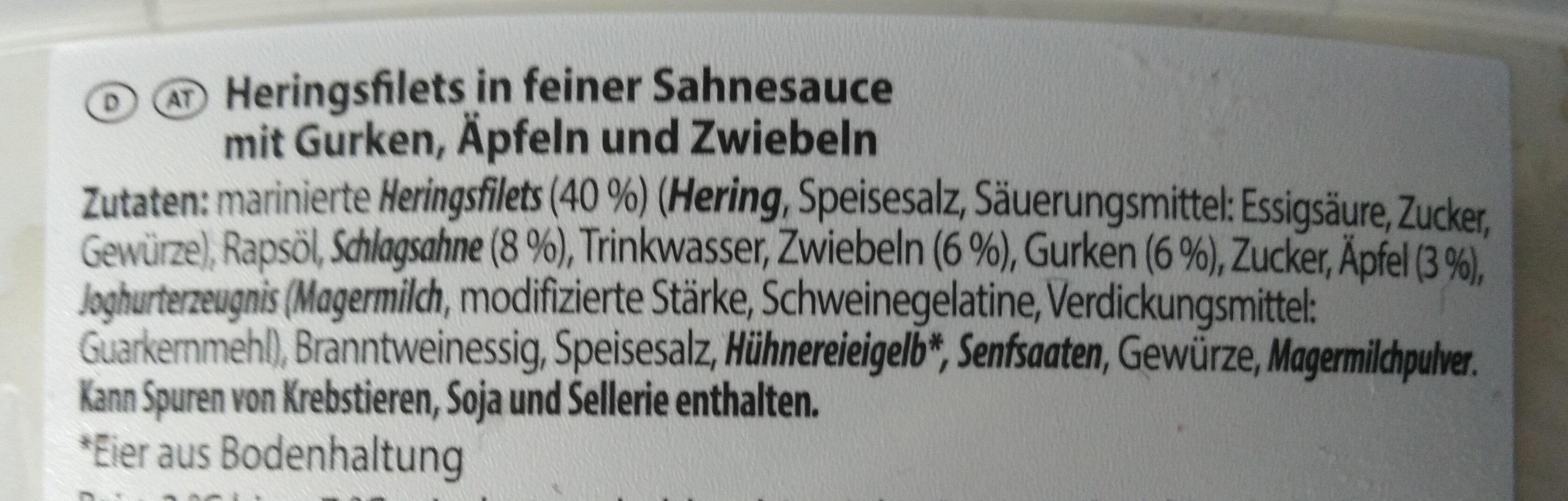 Sahne Heringsfilets - Ingredients