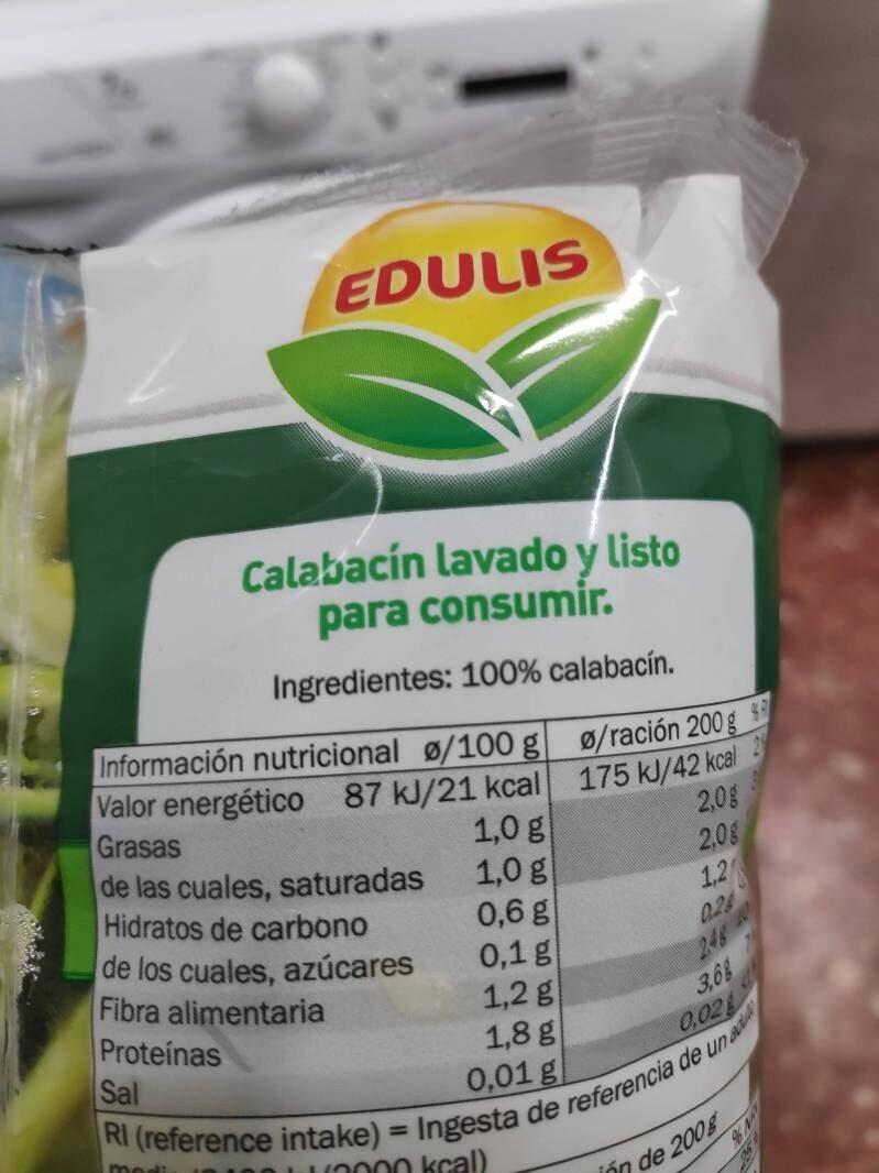 Espirales calabacín - Ingrédients - es