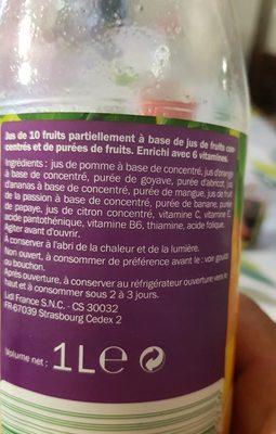 Jus multifruits - Ingredienti - fr