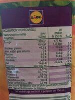 Jus multifruits - Valori nutrizionali - fr